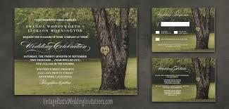 Country Chic Wedding Invitations Tree Wedding Invitations Vintage Rustic Wedding Invitations