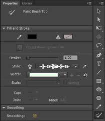 using paint brush in animate cc