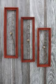 wood frame wall decor vintage wooden rectangle wall decor hanging wood frames in 3 sizes
