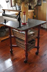 vintage work table thecottageatroosterridge
