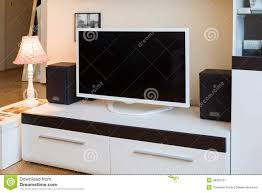 Tv Room by Modern Living Room Tv And Speakers Stock Photo Image 48252521