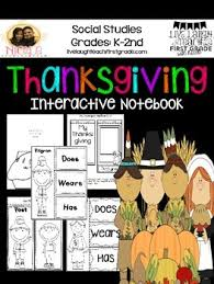 thanksgiving unit interactive notebook by live laugh teach