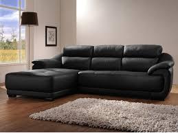canape d angle en cuir canapé d angle en cuir benito noir angle gauche déco canapé