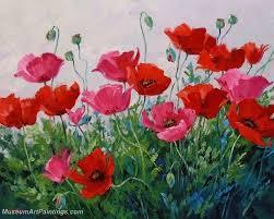 flower garden oil painting 015