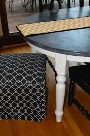 kitchen table beautiful black and white painted furniture where