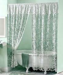 Double Swag Shower Curtain With Valance Lace Shower Curtain Foter
