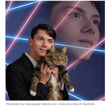 cat yearbook viral laser cat yearbook photo found dead of