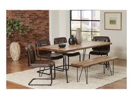 coaster chambler dining chair with leatherette seat and hairpin