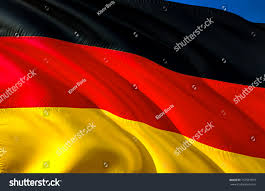 Black Red And Yellow Flag Flag Germany Flag Deutchland 3d Waving Stock Illustration