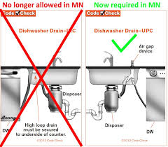 Air Gap Kitchen Sink by New Minnesota Plumbing Code Structure Tech Home Inspections