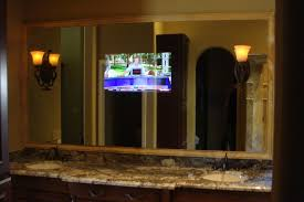 bathroom tv behind mirror bathroom design ideas 2017