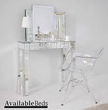 Clear Vanity Table Mirrored Furniture Console Dressing Table Transparent Eames Ghost