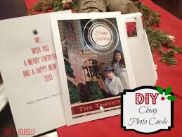two it yourself diy cheap photo cards for christmas