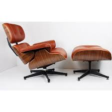 rosewood brown leather charles eames lounge chair ottoman hastac
