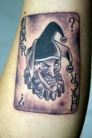 tattoo pictures joker 3d style black ink small forearm tattoo of joker playing card