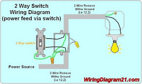 wiring diagram 2 way light switch wiring diagram and schematic