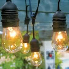 24 suspended socket outdoor light set 54 black cord
