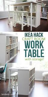Diy Craft Desk With Storage Ikea Hack Craft Room Table An Easy Ikea Hack For Your Craft Room