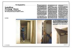 Hanging Interior Doors Installing Prehung Doors Homebuilding