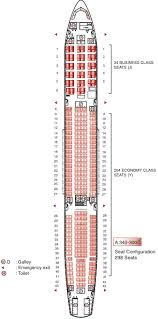 a340 seat map air mauritius airbus a340 300 seating plan flight check in