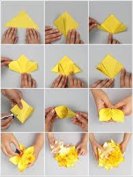 cara membuat bunga dari lipatan kertas melipat origami bola bunga kusudama