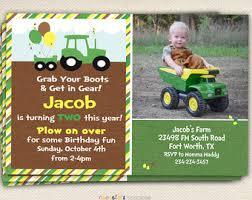 tractor birthday invitation tractor invitation john