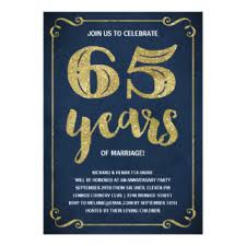 65 wedding anniversary 65th wedding anniversary cards invitations greeting photo