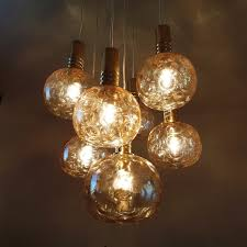 Chandelier Glass Globes Brass And Glass Globes Chandelier From Raak Amsterdam 1970s For