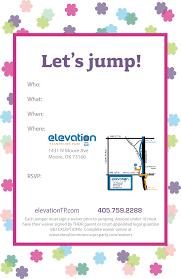 trampoline invitations moore invitations u2014 elevation trampoline park