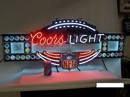 vintage coors light neon sign vintage coors lighted neon bar nfl football sign