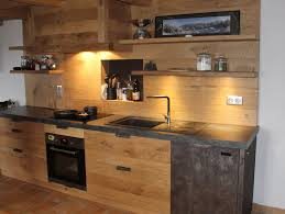 cuisine bois massif contemporaine cuisines bois contemporaines menuiserie agencement gerard