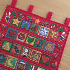 quilted advent calendar reusable fabric advent wall hanging