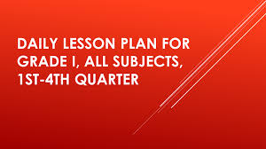 ready made daily lesson plan for grade i for all subjects