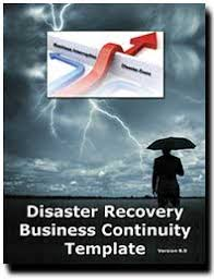 disaster recovery plan business continuity plan template