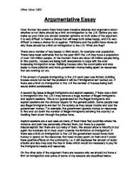 example of argumentative essays example argumentative essay
