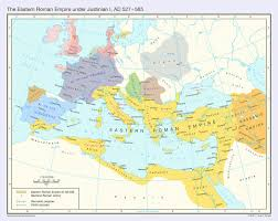 Roman Map Map Of Europe And The Roman Empire Between 527 And 565 Ad 407x323