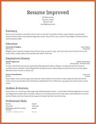 Sample Resume Without Objective by Sample Resume Without Objective Statement 28 Resume Templates
