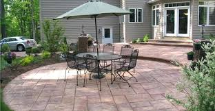 Rear Patio Designs Small Backyard Concrete Patio Designs Concrete Patio Patio Design