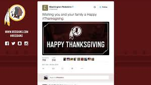 happy thanksgiving tweets washington nfl team