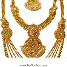 bridal set traditional south indian choker style and gold finish