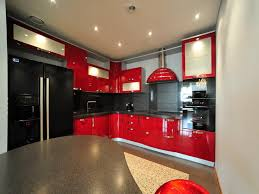 Black Kitchen Cabinets by Red And Black Kitchen Cabinets A Lively Energy In Your Cooking