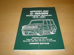 mercedes benz g class wagen owners workshop manual handbook not