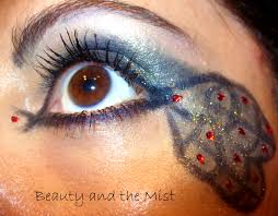 a peacock eye makeup for halloween u2013 beauty and the mist