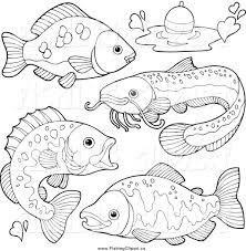 royalty free stock fishing designs of color pages