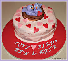 e d does it love birds anniversary cake