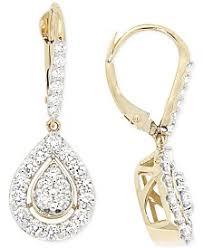 diamond teardrop earrings diamond drop earrings shop diamond drop earrings macy s