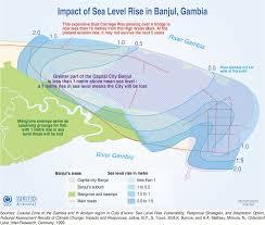 Congo River Map Impact Of Sea Level Rise On The City Of Banjul Congo Basin