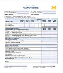 sample safety report template
