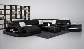 modern black and white leather sectional sofa casa 6140 modern black and white leather sectional sofa