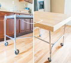 diy kitchen island cart from cart to island aka diy tabletop yellow brick home